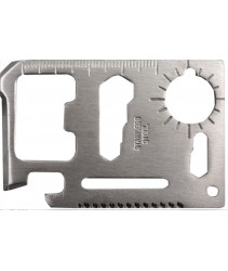 11-in-1 Stainless Steel Survival Multipurpose Card