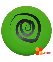 EVA Foam Frisbee or Flying Disk/Disc Cool Outdoor Family Fun at Pool, Beach, School, Playground- Safe for kids (Diameter = 23cm - Green-Circle)
