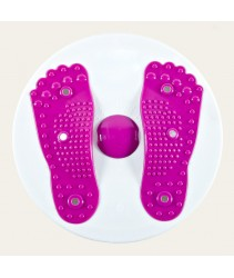 Magnetic Waist Twister Board, Waist Twisting Dics or Trimmer with foot massage function - Purple
