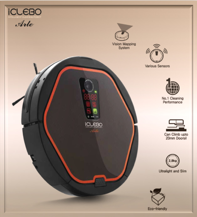 iclebo arte smart home office vacuum cleaner and floor mopping robot silver 11street malaysia. Black Bedroom Furniture Sets. Home Design Ideas