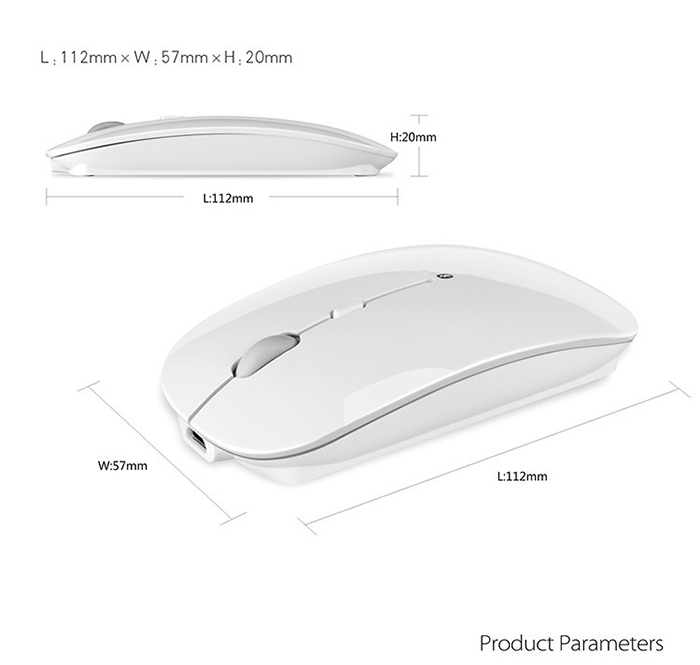 rechargeable super slim bluetooth wireless mouse built in battery view more