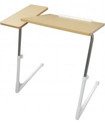 Ergonomic Adjustable / Foldable / Folding / Laptop/ Notebook Table (Premium Model - Beige / Light Brown)