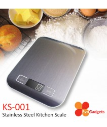 EvoGadgets Stainless Steel Kitchen Scale / Kitchen Scales  (Silver)