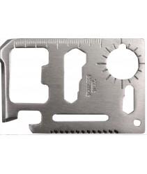 11-in-1 Stainless Steel Survival Multipurpose Card