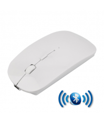 Rechargeable Super Slim Bluetooth Wireless Mouse (Built in Battery) - White