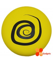 EVA Foam Frisbee or Flying Disk/Disc Cool Outdoor Family Fun at Pool, Beach, School, Playground- Safe for kids (Diameter = 23cm - Yellow-Circle)