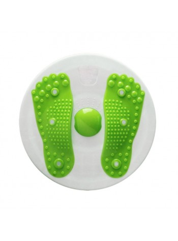 Magnetic Waist Twister Board, Waist Twisting Dics or Trimmer with foot massage function - Green