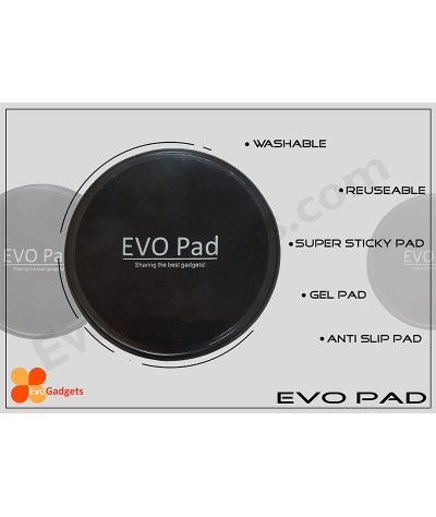 EVO Pad - Washsable and Reusable Super Sticky Pad  / Anti Slip Pad / Gel Pad (Black)