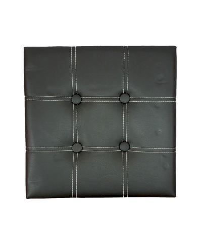 PU Folding Storage Ottoman Cube / Space Organizer / Stool / Foldable Chair - Black