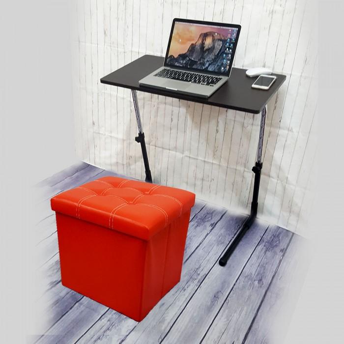 Pu Folding Storage Ottoman Cube Space Organizer Stool