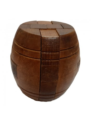 3D Wooden Puzzle - Brain Teaser Game or Relieve Pressure Game  (Barrel)