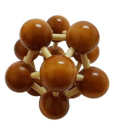 3D Wooden Puzzle - Brain Teaser Game or Relieve Pressure Game  (Space Ball)