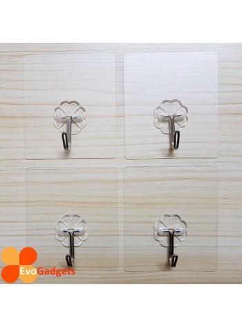 Heavy Duty Magic Hook / Super Sticky Magic Hook / Strong Adhesive Magic Hook x 4 units