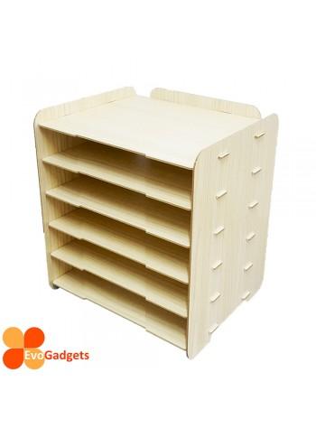 DIY Table Top A4 Documents Organizer / Document Holder / Rack (Beige)