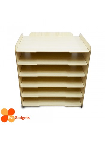 DIY Table Top A4 Documents Organizer / Document Holder / Rack (Beige)