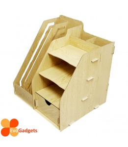 Office DIY Table Top Organiser / Multipurpose Desk Organizer / Documents Organiser  / Rack - Beige
