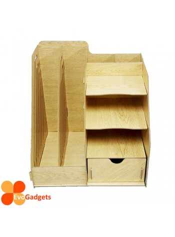 Office DIY Table Top Organiser / Multipurpose Desk Organizer / Documents Organiser  / Rack - Beige