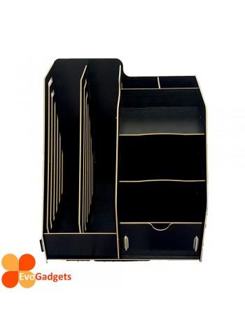 Office DIY Table Top Organiser / Multipurpose Desk Organizer / Documents Organiser  / Rack - Black