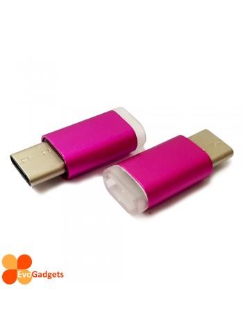 USB Type C to Micro USB Adapter - Purple