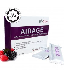 AIDAGE - Collagen Peptides with Mixed Fruit Powder (Contain 2 Types of Collagen)