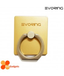 EVORing with Hook - Universal Masstige Ring Grip / Phone Stand /Phone Holder -Gold
