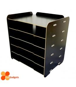 DIY Table Top A4 Documents Organizer / Document Holder / Rack (Black)
