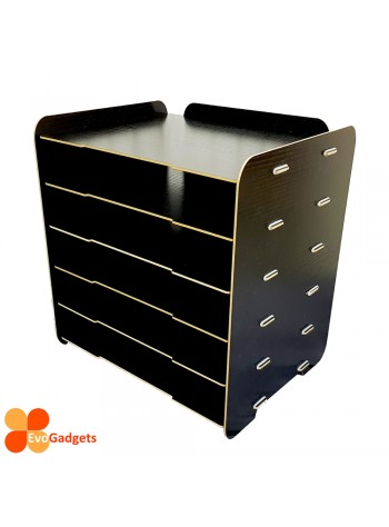 DIY Table Top A4 Documents Organizer / Document Holder / Rack (Black)