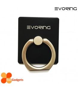 EVORing with Hook- Universal Masstige Ring Grip / Phone Stand / Phone Holder - Black