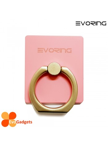 EVORing with Hook - Universal Masstige Ring Grip / Phone Stand /Phone Holder - Pink