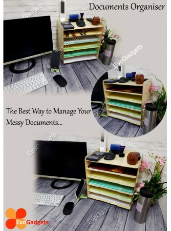 DIY Table Top A4 Documents Organizer / Document Holder / Rack