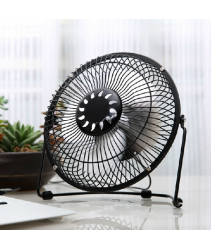 Portable 7 Inch Low Noice USB Fan - Metal Frame and Aluminium Blades