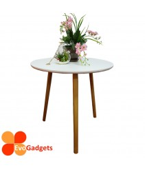 Scandinavian Style Round Side Table / Coffee Table / Sofa Side Table - WHITE