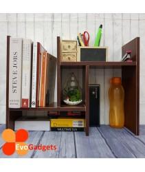Innovative Table Top Organizer / Rack / Shelf  - DIY (Wenge Colour)