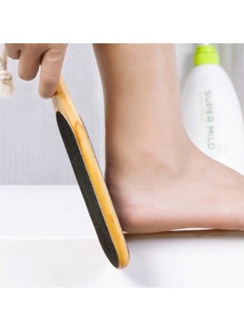 Double Sided Foot File for Dead Skin Callus Remover Predicure Tool (Solid Wood)