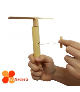 Traditional / Classic Wooden / Bamboo Toy -  Hand Spin Propeller Toy with special mechanism
