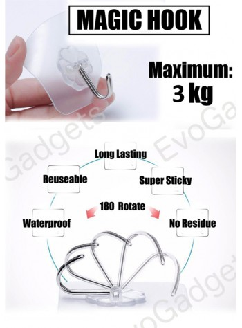 Heavy Duty Magic Hook / Super Sticky Magic Hook / Strong Adhesive Magic Hook x 10units