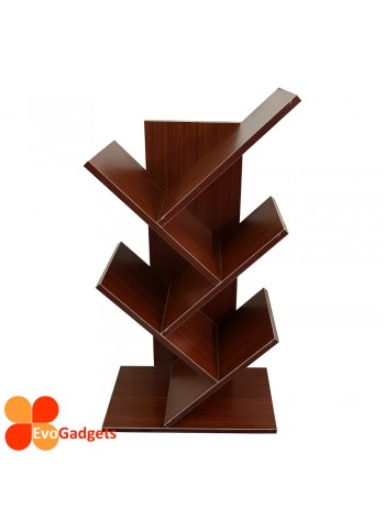 Tree Shape Bookcase / Rack / Display Storage Rack / Book Rack  (Brown or Wenge)