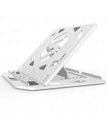 Foldable 7 Steps Adjustable Notebook Stand, Foldable Ergonomic Adjustable Laptop Stand