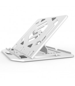 Foldable 7 Steps Adjustable Notebook Stand, Foldable Ergonomic Adjustable Laptop Stand