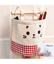 Hanging Storage Pouch or Storage Pockets - Red Plaid (Free x1 Magic Hook)
