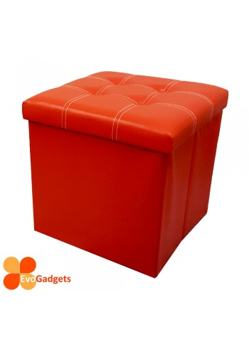 EvoGadgets PU Folding Storage Ottoman Cube / Stool / Foldable Chair