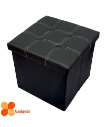 EvoGadgets PU Folding Storage Ottoman Cube / Stool / Foldable Chair