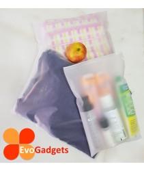 EvoGadgets Travelling Storage Bag -Double Sided Matte Transparent