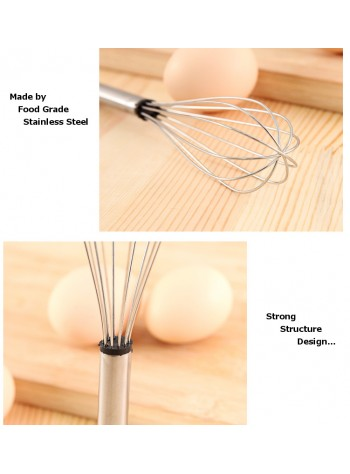EvoGadgets Professional Manual Stainless Steel Egg Beater - Kitchen Cooking Gadgets for Mixing and Beating / Mixer / Stirrer