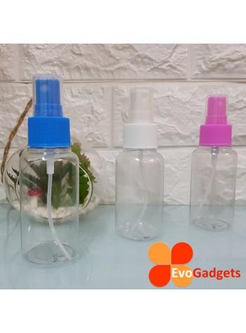 EvoGadgets Refillable 75ml Mist Sprayer Bottle / Empty Transparent Plastic Bottle