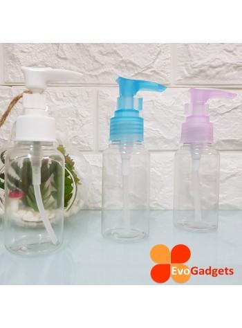 EvoGadgets Refillable 75ml Press / Pump Bottle / Empty Transparent Plastic Bottle