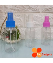 EvoGadgets Refillable 75ml Mist Sprayer Bottle / Empty Transparent Plastic Bottle (3unit in 1set)
