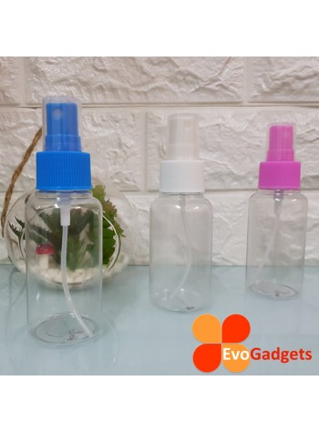 EvoGadgets Refillable 75ml Mist Sprayer Bottle / Empty Transparent Plastic Bottle (3unit in 1set)