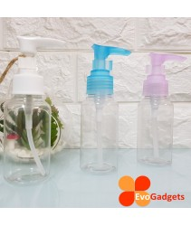 EvoGadgets Refillable 75ml Press / Pump Bottle / Empty Transparent Plastic Bottle (3unit in 1set)