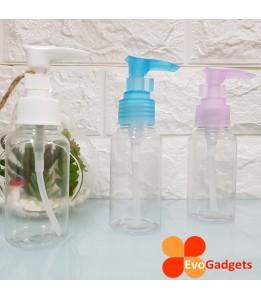 EvoGadgets Refillable 75ml Press / Pump Bottle / Empty Transparent Plastic Bottle (3unit in 1set)